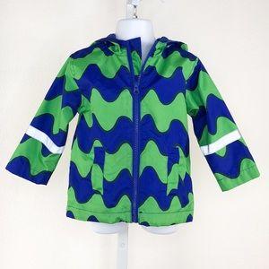 Marimekko Blue Green Print Rain Coat